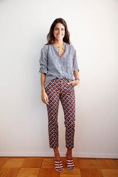Leandra Medine. if I was ever feeling this sparkly. and if I ever owned fun pants.