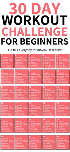 This 30 day workout challenge for beginners is THE BEST! I'm so glad I found this awesome workout challenge to help me lose weight this year! Definitely pinning this for later! plans to lose weight 30 Day Workout Challenge Weight Loss Workout Plan, At Home Workout Plan, At Home Workouts, Gym Workouts To Lose Weight, Beginner Workout Routines, Weight Loss Challenge, Exercise Workouts, Workout Tips, Workout For Fat Loss
