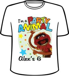 Personalized Party Animal from The Muppets Birthday T Shirt | eBay