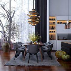 Dark color scheme  #dining #darkfloor #kitcken #interior #interiors #interiordesign #interiordesigning #design #architecture #homedecor #decor #interiordecor #art