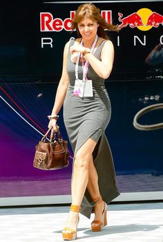 Carol Vorderman flashes some leg in a tight grey maxi dress at British Grand Prix Carol Vordeman, Blond, Carol Kirkwood, Spandex Girls, Tv Girls, British Grand Prix, Grey Maxi, Military Women, Tv Presenters