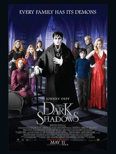 I'll watch anything with Johnny Depp!!! Dark Shadows is an upcoming film based on the 1966–1971 gothic soap opera of the same name. The film is directed by Tim Burton and stars Johnny Depp as Barnabas Collins, a 200-year-old vampire, as well as Michelle Pfeiffer as his cousin Elizabeth Collins Stoddard, a reclusive matriarch of the Collins family.