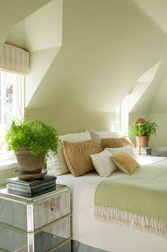 Spa like bed in angled alcove