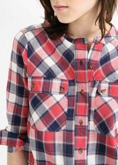 Camisa twill quadrados