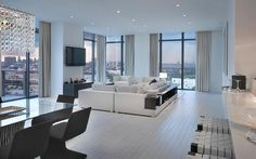 Lounge, black and white