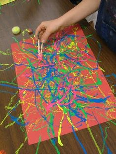 Use clothes pins to paint with string  Art with Mrs. Seitz: Pollock Guitars