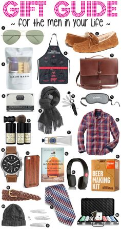 GIFT GUIDE // FOR THE MEN IN YOUR LIFE
