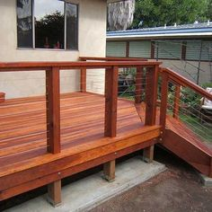 Deck Idea Porch Railing | Deck Cable Railing Design Ideas, Pictures, Remodel, and Decor