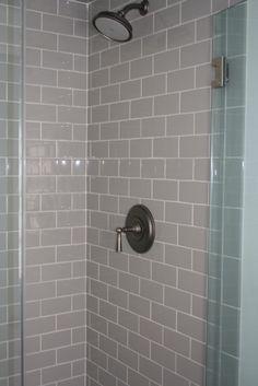 Frameless Custom Shower, Newport Brass Ayelsbury Shower System, Daltile Ceramaic Tile in Dessert.  #RhodeIslandBathroom #Cypressdesignco
