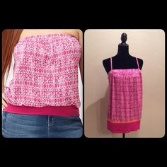 """NWT Tube top, strapless or as a tank Can be worn strapless or as a tank. Dark raspberry knit versatile tank top. Blocked banded bottom. Length:~22.25"""".  joponnipoj Lane Bryant Tops Tank Tops"""
