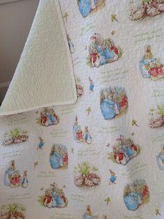Beatrix Potter Peter Rabbit baby toddler quilt Peter Rabbit bedding unisex baby…