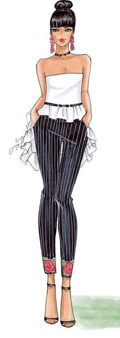m.michel fashion illustration