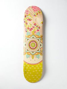 Limited Edition Free People Printed Skateboard. Wall art