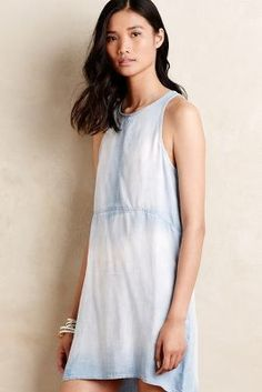 Anthropologie Tieback Chambray Shift