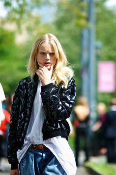 "modelsoffthecatwalk: ""Hanne Gaby Odiele www.fashionclue.net | Fashion Tumblr, Street Wear & Outfits"