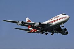 Trans World Airlines TWA Boeing 747SP at Heathrow, 1983