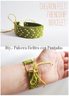 """Como hacer una Pulsera """"Amistad"""" de Fieltro"""