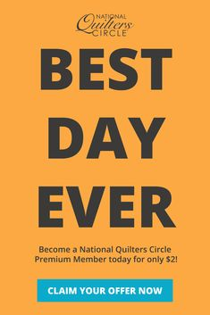 CONGRATS! You've been invited to become a Premium Member in the National Quilters Circle. Get exclusive access to all of our best quilting instructional videos, tips & projects. Upgrade today and you'll get a WHOLE YEAR of access for only $2 (normally $69) Quilting Ideas, Quilting Projects, Rag Quilt, Quilts, Nose Contouring, Best Day Ever, How To Become, Room Decor, Bread