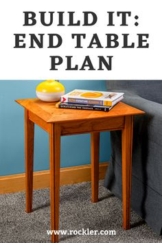 This End Table plan incorporates steps including cutting lumber to size with a miter or radial arm saw, gluing, clamping, and Beadlock joinery – all skills that provide a foundation for future woodworking projects. Rockler Woodworking, Cool Woodworking Projects, Woodworking Supplies, Wood Projects, End Table Plans, Danish Oil Finish, Hinges For Cabinets, Weekend Projects, Joinery