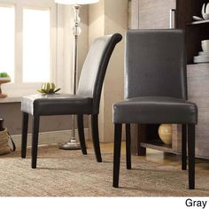 * WOODHAVEN GREY CHAIRS SET OF 2