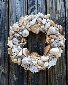 Shell Wreath Sea Shell Wreath Beach Wreath