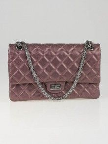 Chanel Metallic Rose Fonce 2.55 Reissue Quilted Classic 226 Flap Bag (2008)