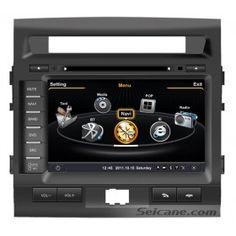 Double din voiture autonome Lecteur DVD pour Toyota LC200 avec Navigation-Ready GPS intégré BT HD Radio Tuner entrée / sortie AV 3G WiFi