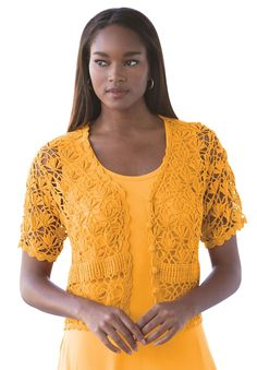 Plus Size Shrug Cardigan in Crochet