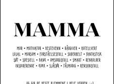 En morsom oversikt over mammarollen - Plakatbar. Logos, A Logo, Legos
