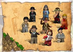 Lego Indiana Jones characters. (feralintereactive, 2012)