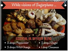 A 'sugar and spice' blend of essential oils for your diffuser to use at Christmas time.