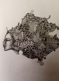 Nolita Jpn illustration pencil drawing noble face