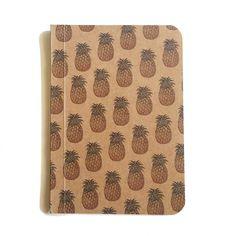 Pineapple Notebook, Pattern Notebook, Pocket Journal, Original Handmade Mini Diary and Jotter, Blank Paper Notebook