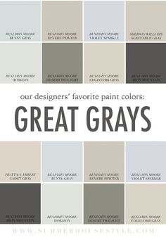Home Design Benjamin Moore Gray Mirage Fresh Sherwin Williams Edge Benjamin Moore Exterior, Benjamin Moore Gray, Indoor Paint Colors, Paint Colors For Home, Paint Colours, Wall Colors, Revere Pewter, Coordinating Paint Colors, Colours That Go With Grey
