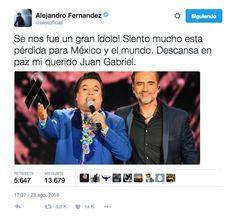 El mundo entristece por la perdida de Juan Gabriel