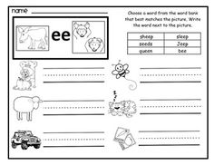 Long Vowels: Long A in Train | Long vowels, Worksheets and Phonics
