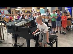 (123) Amazing airport pianist- Harrison aged 11 plays Ludovico Einaudi cover Nuvole Bianche - YouTube Manchester Airport, Plays, Playing Piano, Cover Songs, Gif Of The Day, Classical Music, Music Artists, My Music, Amazing