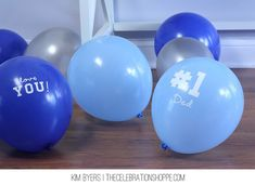 Easy Peasy Father's Day Balloons | @kimbyers