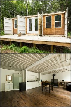 Take a peek inside this amazing 3-shipping container home by Joseph Dupuis! Would you want to live in a house like this?