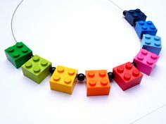 Lego rainbow necklace