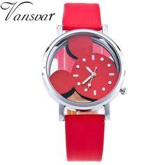 2017 Women Girl Cartoon Watch Newest Fashion Luxury Mickey Mouse Quartz Wrist Watches Ladies Wristwatch Dress Clock M15
