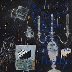 Squeak Carnwath | Clark GalleryNight - 2014 30 x 30 oil and alkyd on canvas over panel
