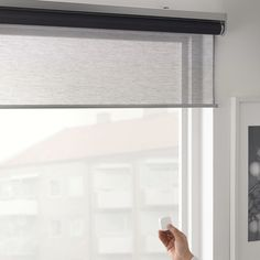 Ikea is taking a simple approach to the smart shades: instead of wiring them into your house, the shades have a removable, rechargeable battery pack. An included remote will let you raise and lower the shades.#smartblinds #smart #blinds #smarthome #smartfashion #decor #homedecor #homeornamentation #smartbedroom #curtains #curtain #curtainsdesign. Window Coverings, Smart Home, Blinds, Remote, Ikea, Shades, Windows, Curtains, Simple