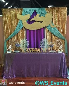 Decoración Mermaid Birthday Decorations, Mermaid Theme Birthday, Little Mermaid Birthday, Girl Birthday Themes, Little Mermaid Parties, 1st Birthday Parties, Mermaid Baby Showers, Baby Mermaid, Under The Sea Party