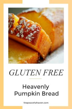 This is the REAL DEAL!!  Heavenly Gluten Free Pumpkin Bread recipe with dairy free, sugar free options! Gluten Free Pumpkin Bread, Gluten Free Pancakes, Gluten Free Breakfasts, Gluten Free Desserts, Gluten Free Recipes, Baking Recipes, Pumpkin Breakfast, Food Hacks, Food Tips
