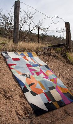 'Colour Shards' hand-knotted rug by Rouse Phillips