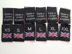 Your place to buy and sell all things handmade Custom Woven Labels, Union Flags, Black Figure, Clothing Labels, Union Jack, How To Apply, How To Make, Damask, Tags