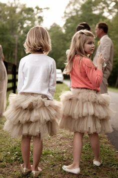 Skirts made by bride's sister. Photography by cmcdadephotography.com/