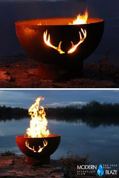 This unique handcrafted fire pit honors the White Tail Deer! Enjoy decades of fun filled, relaxing evenings beside this beautiful tribute to our forest friends.