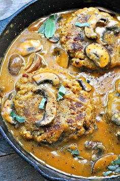 Vegan Lentil Salisbury Steak - Lentils perfectly mimic steak in my vegan take on Salisbury steak with mushroom gravy. It is so delicious, easy and filled with protein.